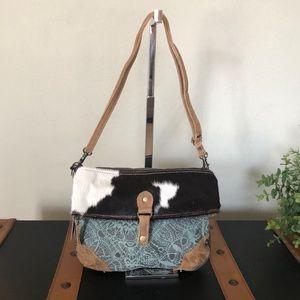 Handbags - Myra Bag Hairon Flap Canvas small Crossbody Purse